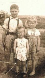 Edward, Maxine and Edna  Spring of 1941